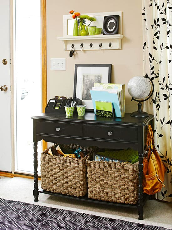 entryway storage table